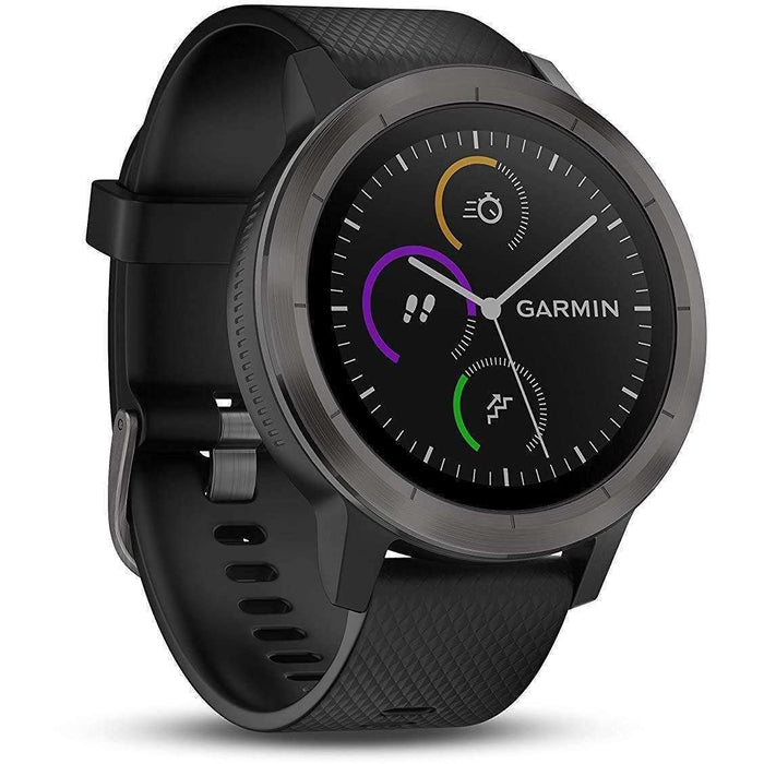 Wellnostics - Garmin Vivoactive 3 GPS Smartwatch with Built-In Sports Apps and Wrist Heart Rate