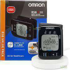 Wellnostics - Omron Wrist Blood Pressure Monitor RS8 with NFC tray HEM-6310F-E+HHX-IT3-E