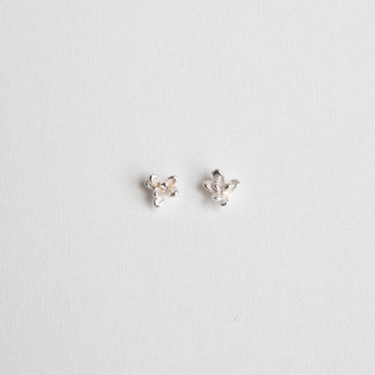 Succulent Studs in Sterling Silver