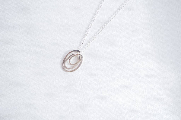 Organic Shapes Pendant in Sterling Silver
