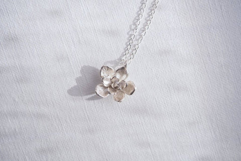 Succulent Flower in Sterling Silver