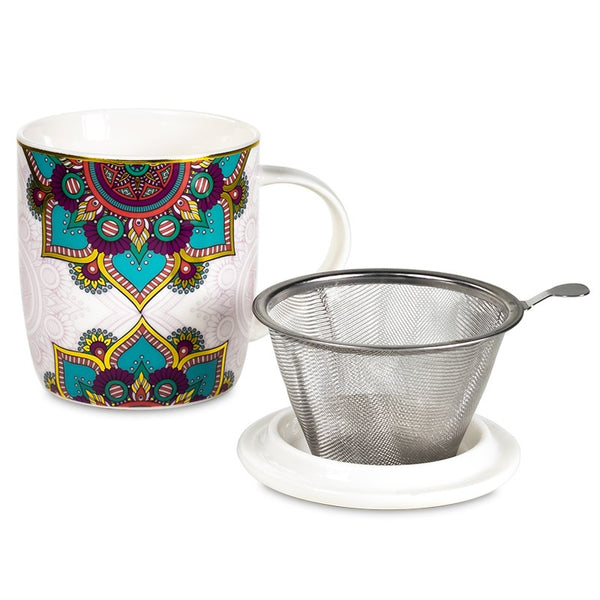 Tea Infuser Mug - Mandala Tuquiose