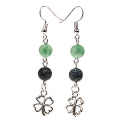 Kambala & Aventurine Clover Earrings