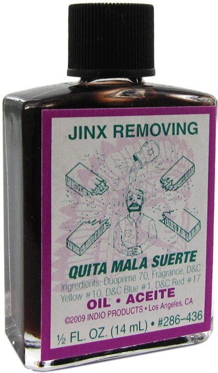 Jinx Removing Oil