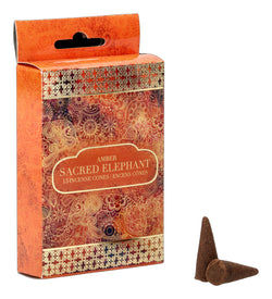 Sacred Elephant Amber Incense Cones