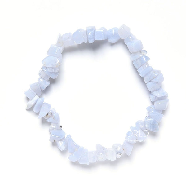 Blue Lace Agate Chip Bracelets