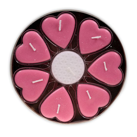 Cherry Heart Shaped Candle Set