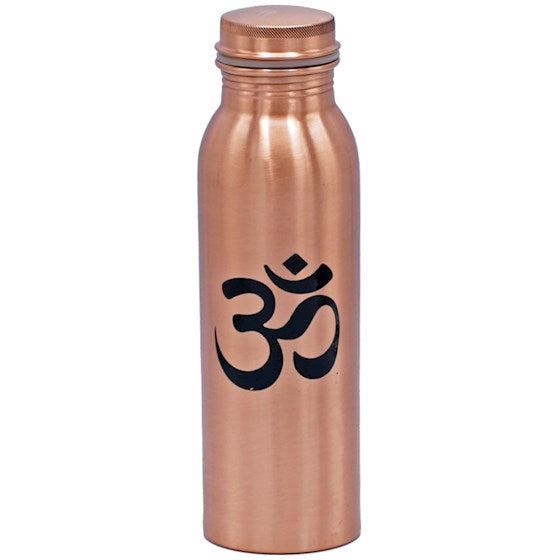 Om Copper Water Bottle