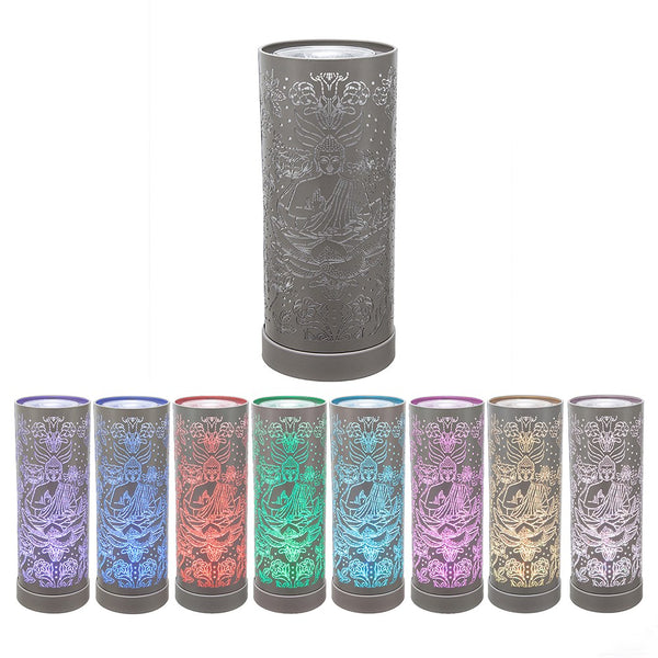 Grey LED Buddha Oil Burner