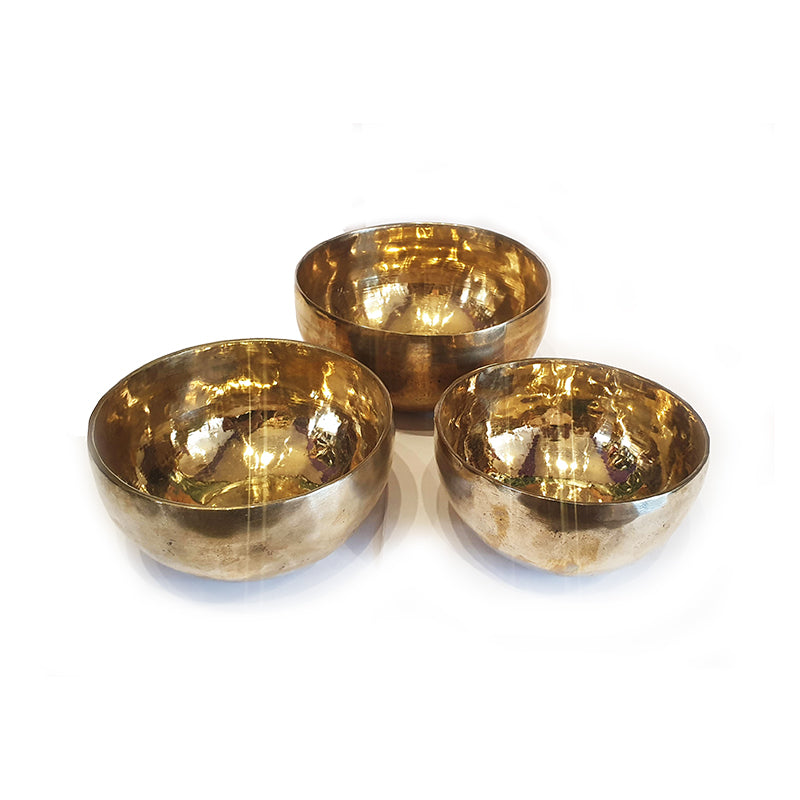 Gold Hand Beaten Singing Bowl