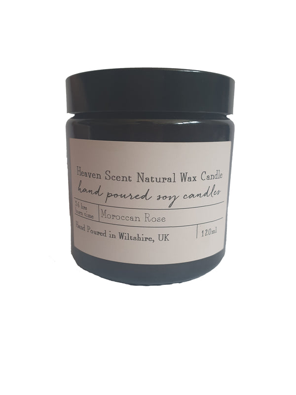 Heaven Natural Wax Candle - Moroccan Rose