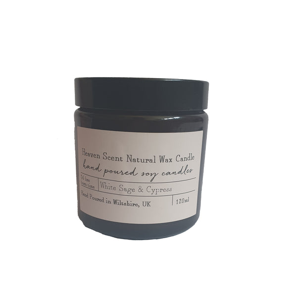 Heaven Natural Wax Candle - White Sage & Cypress