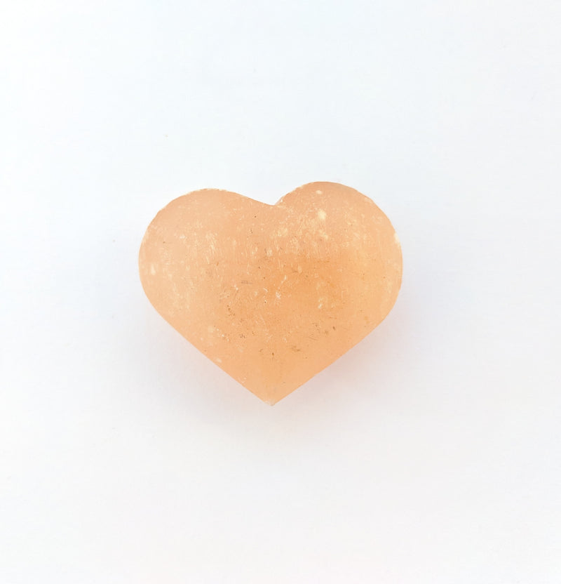 Red Selenite Heart