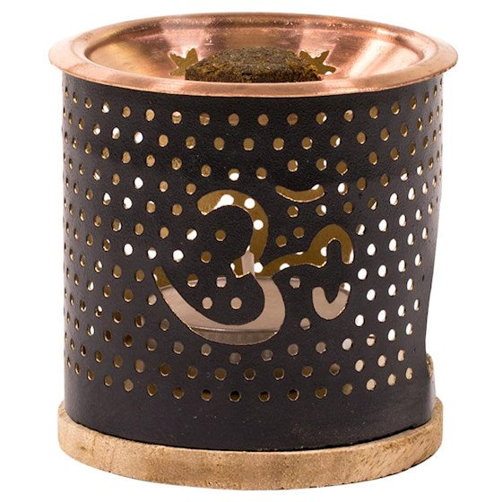 Om Charcoal Incense Burner