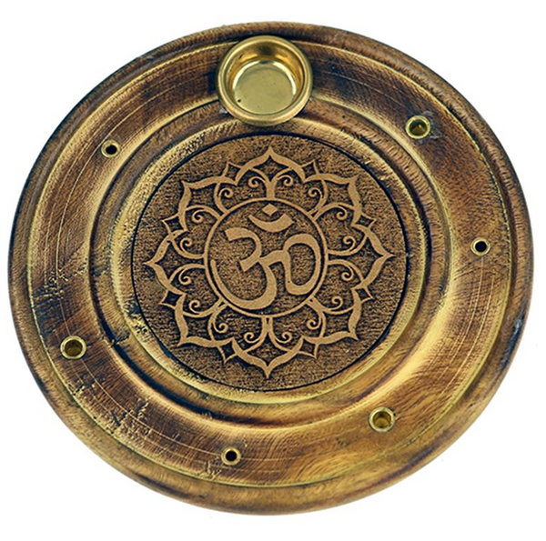 Duel Incense Holder - 'Om'