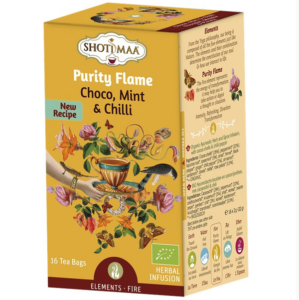 Organic Chakra Shoti Maa Herbal Tea - Purity Flame