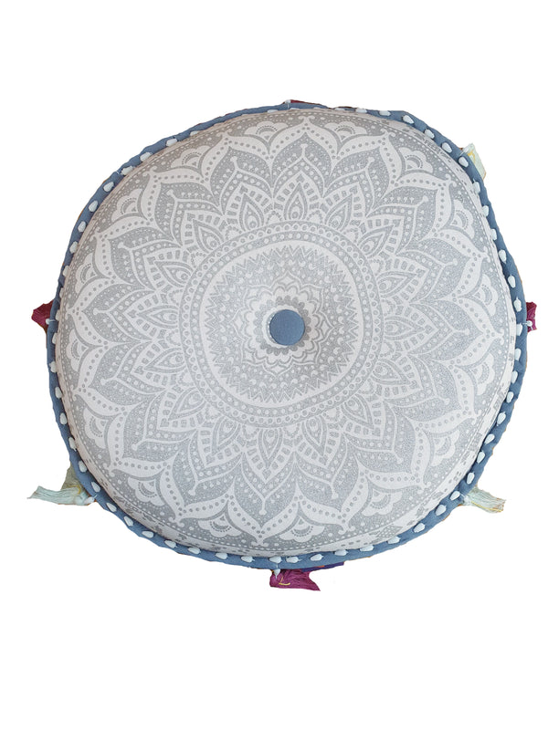 Lotus Mediation Cushion - Silver