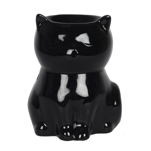 Gloss Black Cat Oil Burner