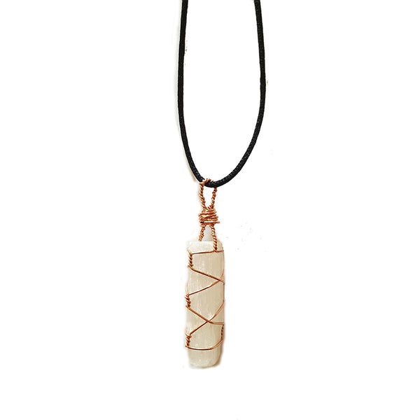 Selenite Necklace - Copper