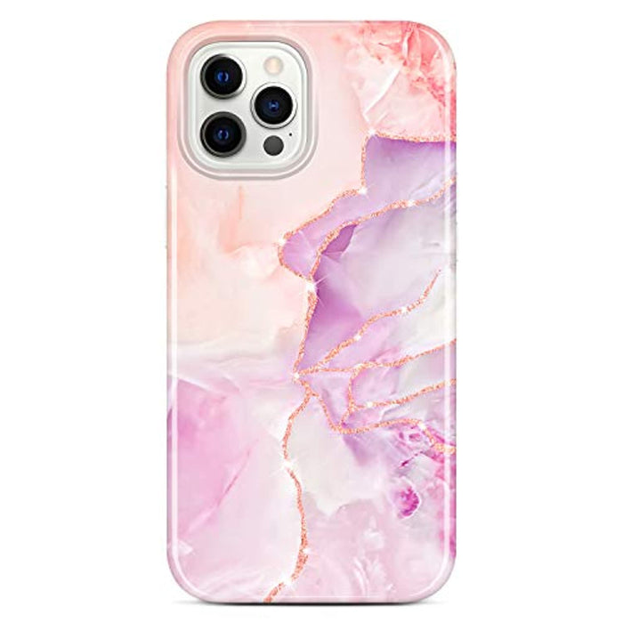 Sparkle Glitter Marble Slim Shockproof TPU Case for iPhone 12 Pro Max
