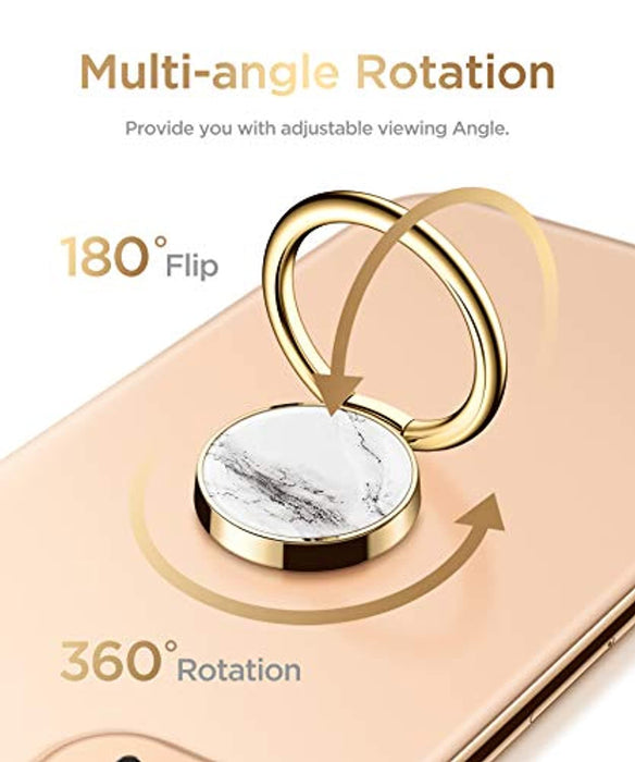 Marble Cell Phone Ring Holder Finger Ring Stand