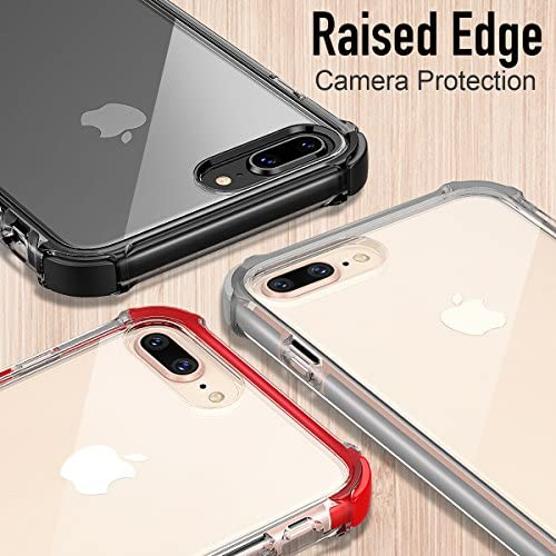 iPhone 7/8 Plus Case Heavy Duty Clear TPU Bumper Shockproof Case