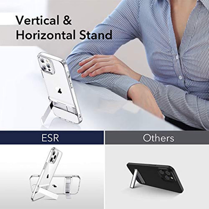 Clear ESR Metal Kickstand Designed for iPhone 12 Case/iPhone 12 Pro Case