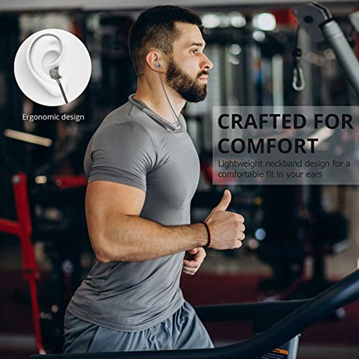 Glazata Wireless Bluetooth Headphones Neckbands with Magnetic Earbuds Bluetooth 5.0 Sports Earphones CVC 8.0 aptX-LL & aptX-HD Stereo Wireless Headphones for Workouts (Grey)
