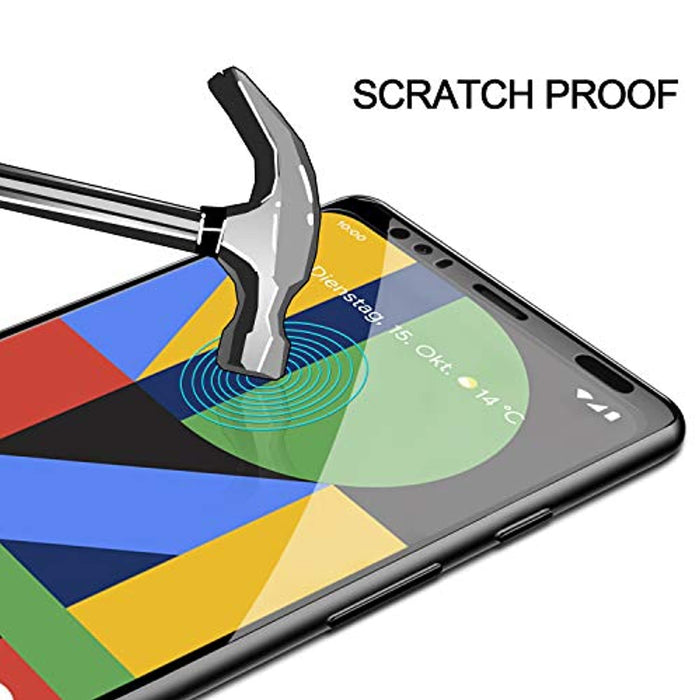 [3-Pack]  Google Pixel 4 Tempered Glass Screen Protector Case Friendly