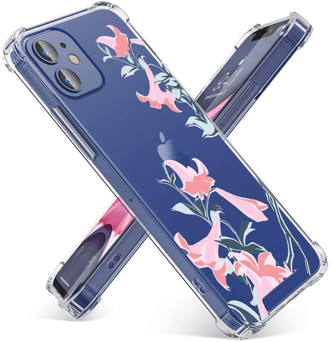 OTBBA Clear Floral Pattern Case for iPhone 12 Mini