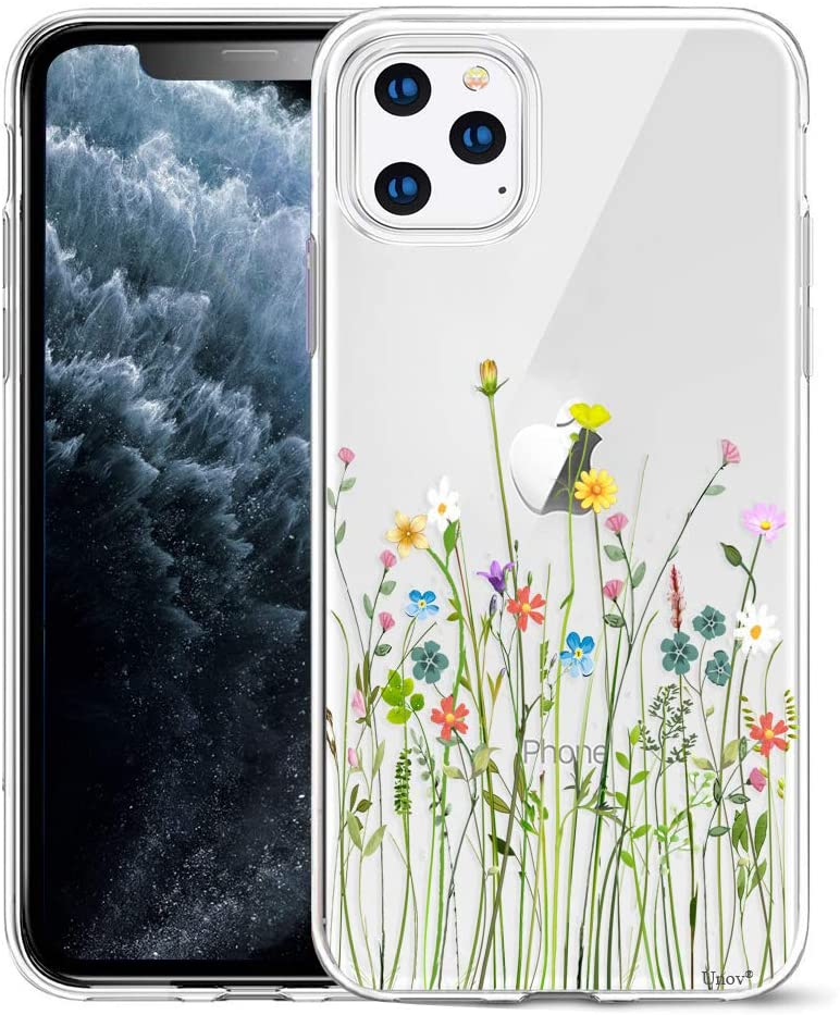 iPhone 11 Pro Max Slim Clear Floral Pattern