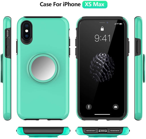 iPhone XS Max Dual Layers Pop Handle Stand Case