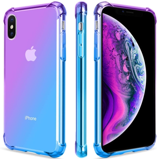 iPhone XS Max Two Colors Gradient Transparent Clear Case