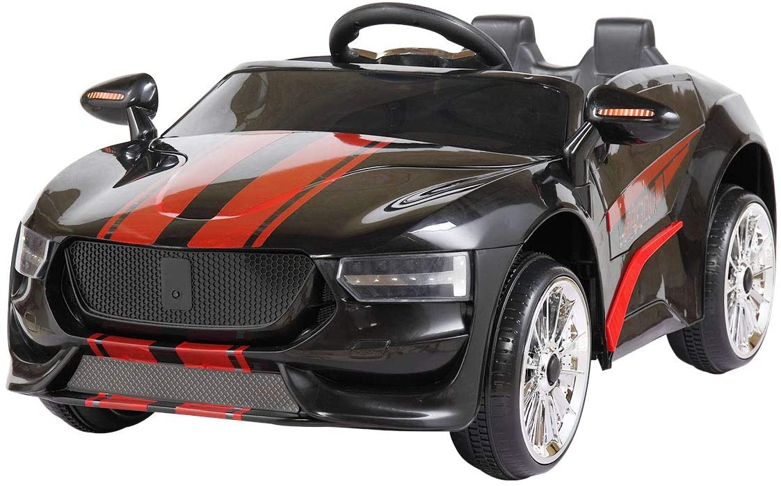 6V Kids Ride On Car Battery Powered Electric Sports Car With Stripes