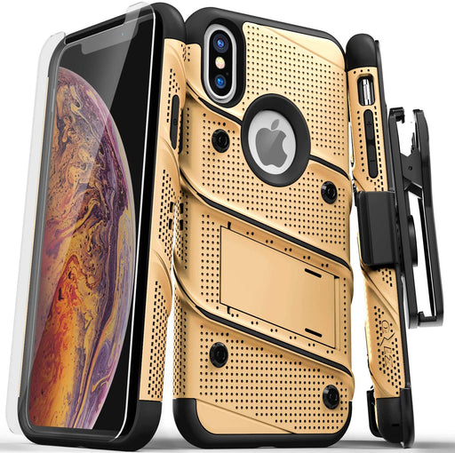iPhone X Bolt Series Drop Proof Gold Case