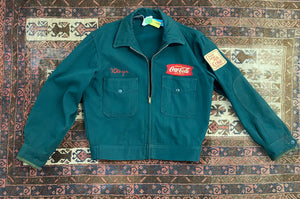 Vintage 1950s Coca Cola Delivery Work Jacket