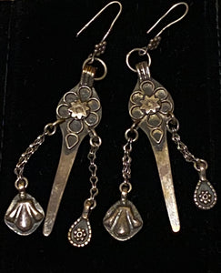 Handmade Silver Lotus Earrings