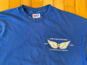 Vintage 90s Clemson University Angel Flight Silver Wings long Sleeve