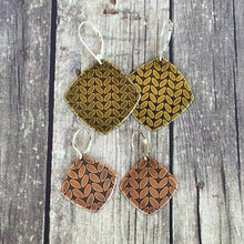 Katie small and large knit stitch earrings