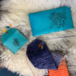 ENVELOPE CLUTCH AND STITCH MARKER POUCH SET