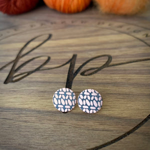 the CARINA Crochet stud earrings