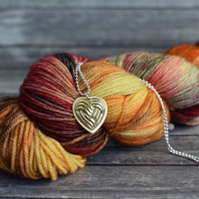 HEART YARN BALL PENDANT