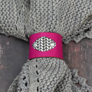 SIERRA LEATHER SHAWL CUFF