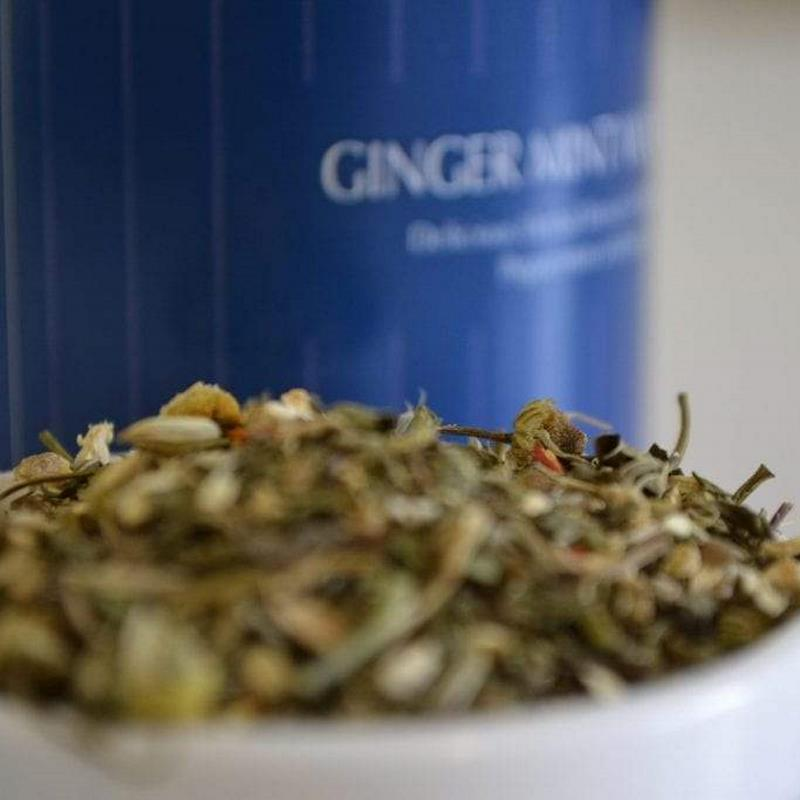 Ginger Mint Wonders - Organic Tea Leaves with Herbs that help digestion - Tea With Herbs