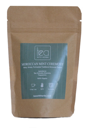 Moroccan Mint Ceremony Tea - Organic Green Tea Leaves with Herbs - Tea With Herbs