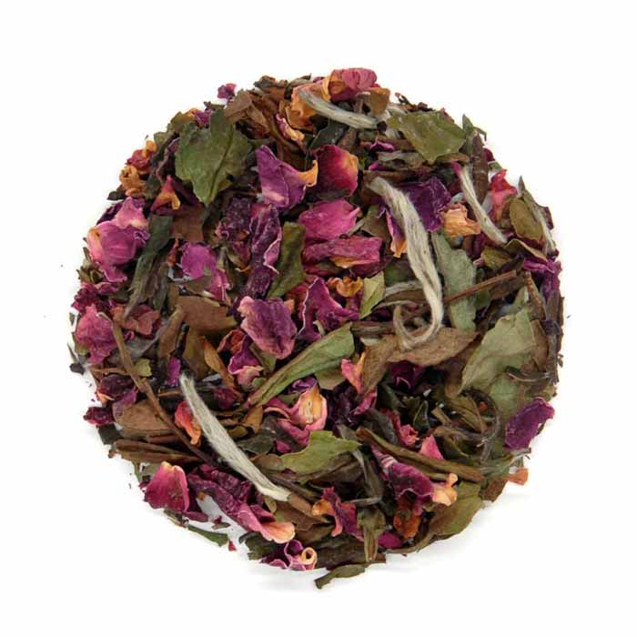Rosa Blanca - White Rose - Gold Standard Organic White Tea Leaves - Tea With Herbs