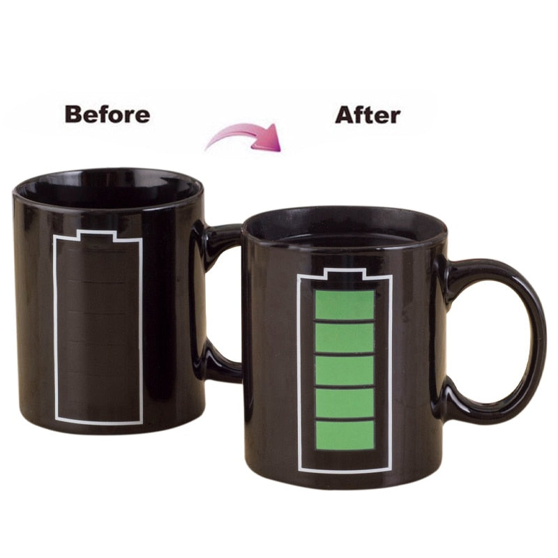 Heat Sensitive Color Changing Mugs for Tea and Coffee - Tea With Herbs