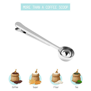 Stainless Steel Perfect Tea Spoon With Bag Clip - Tea With Herbs