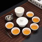 ANCHENG Chinese Ceramic Travel Tea Set - Tea With Herbs
