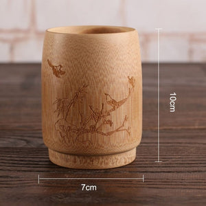Bamboo Drinking Cup for Coffee, Beer, Tea, Juice, Water and more (One Piece) - Tea With Herbs